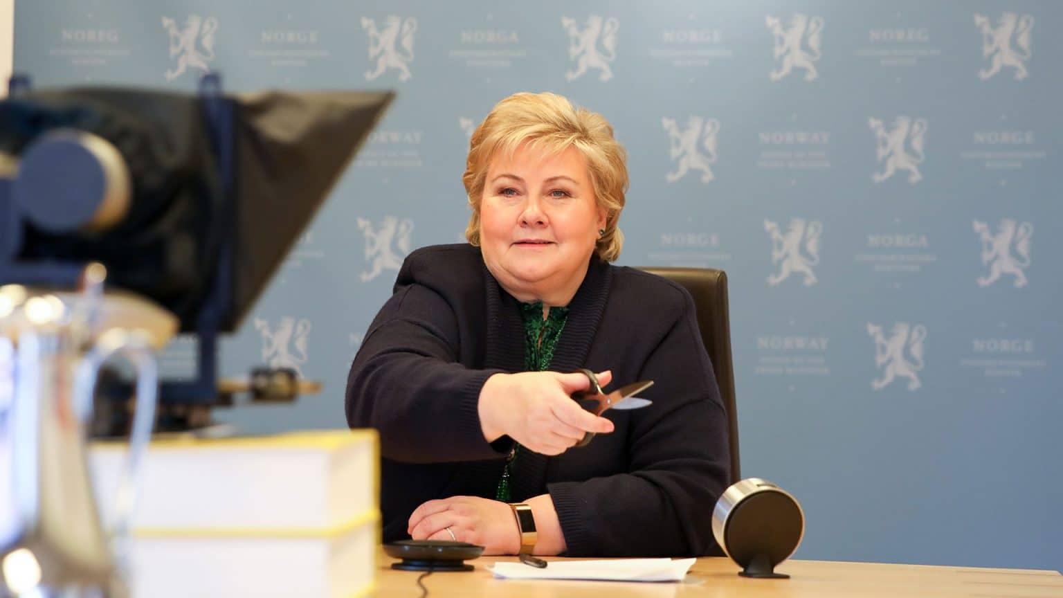 Statsministeren åpnet utvidet fabrikk i Malmefjorden
